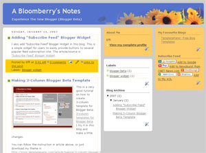 3 column sun flowers blogger template
