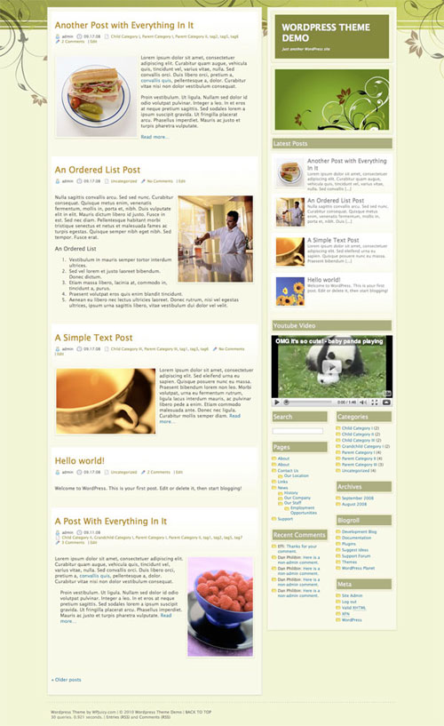 absolute green wordpress theme