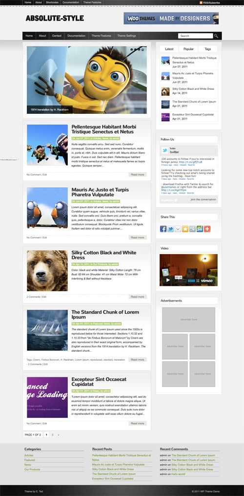 Absolute-Style wordpress theme