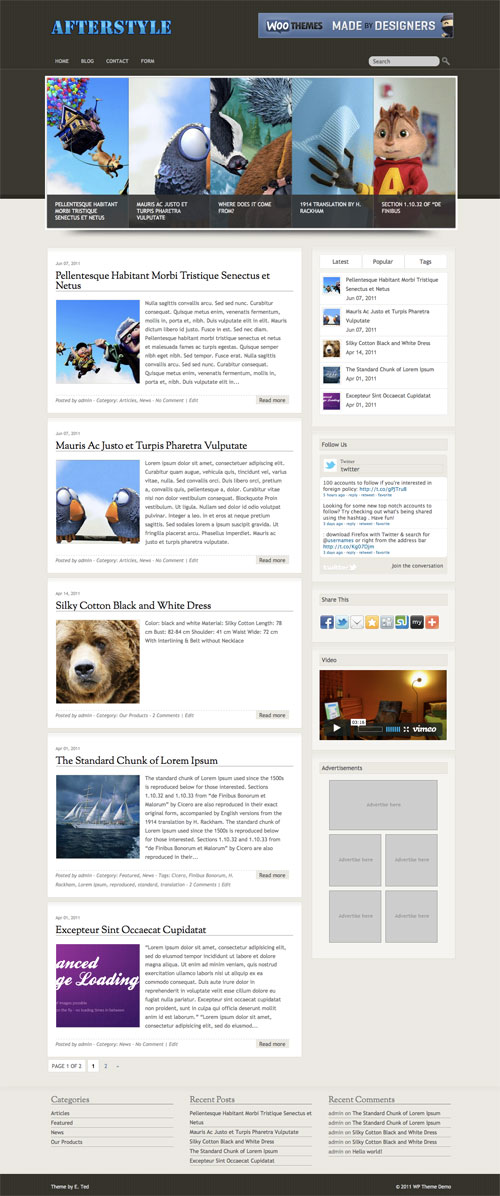 Afterstyle wordpress theme