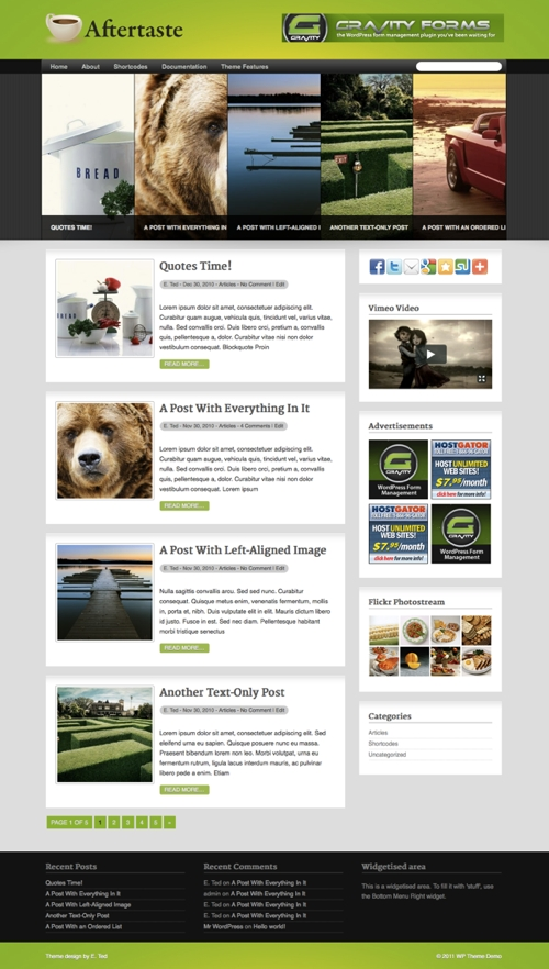aftertaste wordpress theme