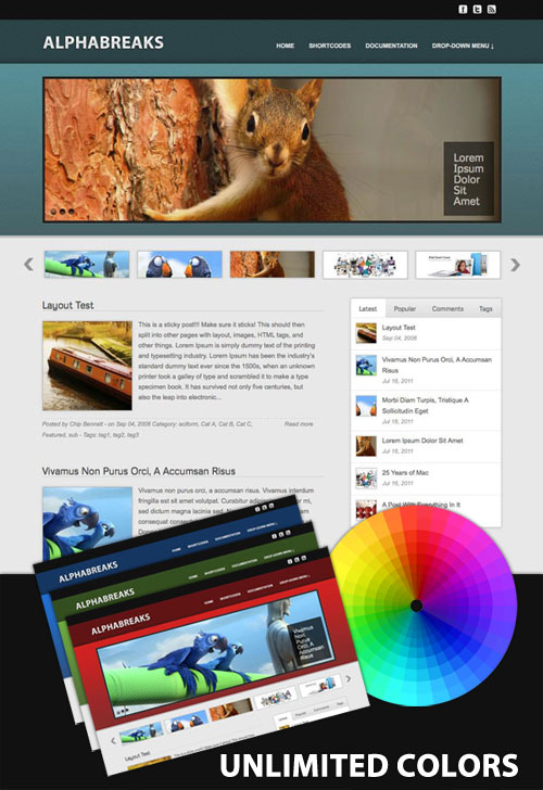 Alphabreaks wordpress theme