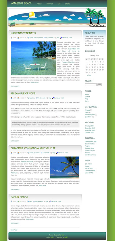 amazing beach wordpress theme