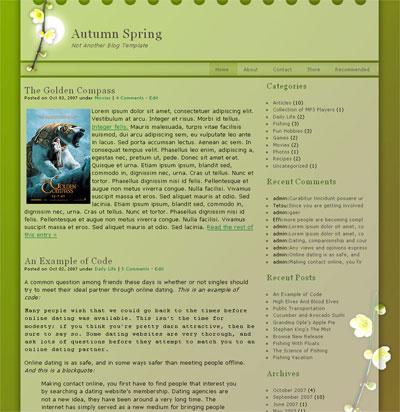 autumn spring wordpress theme