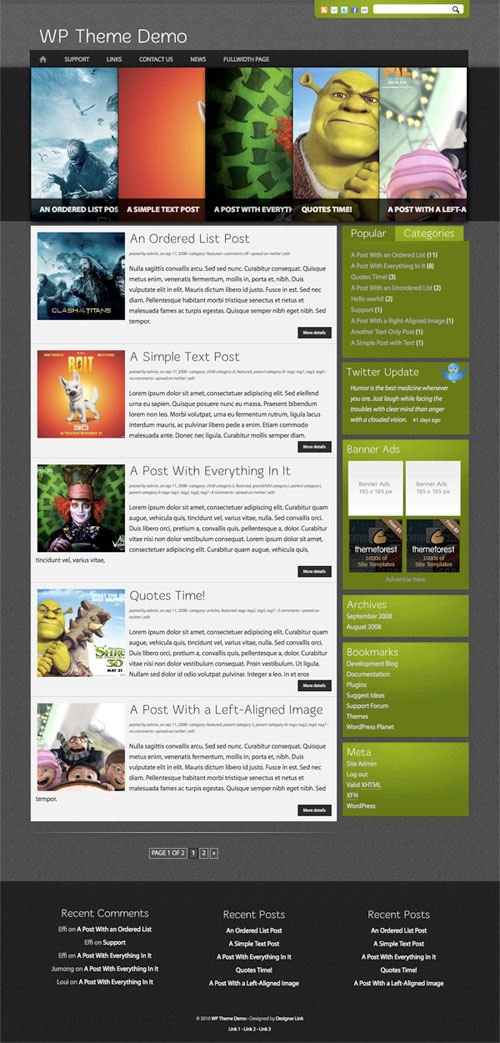 Avatarized wordpress theme