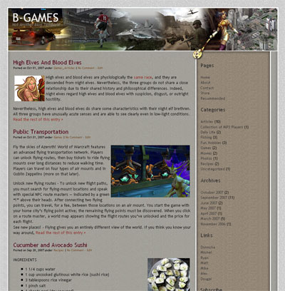 b games wordpress theme