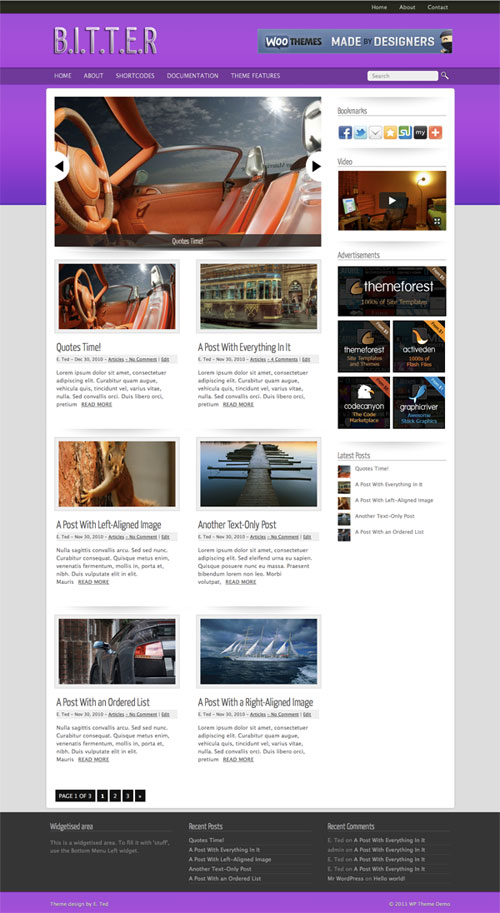 bitter wordpress theme