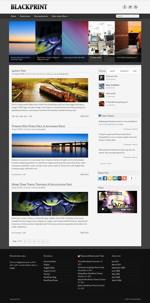 Blackprint wordpress theme