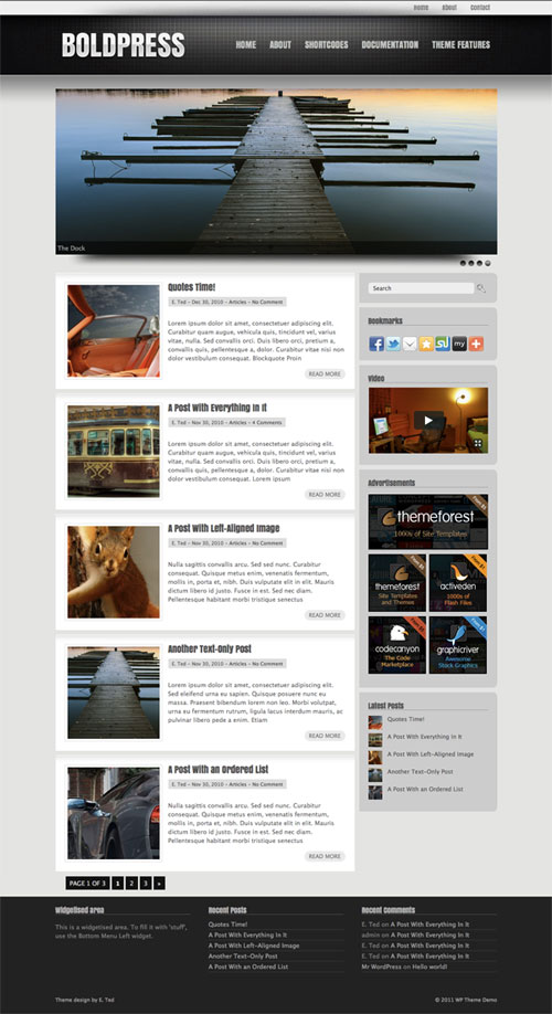 Boldpress wordpress theme