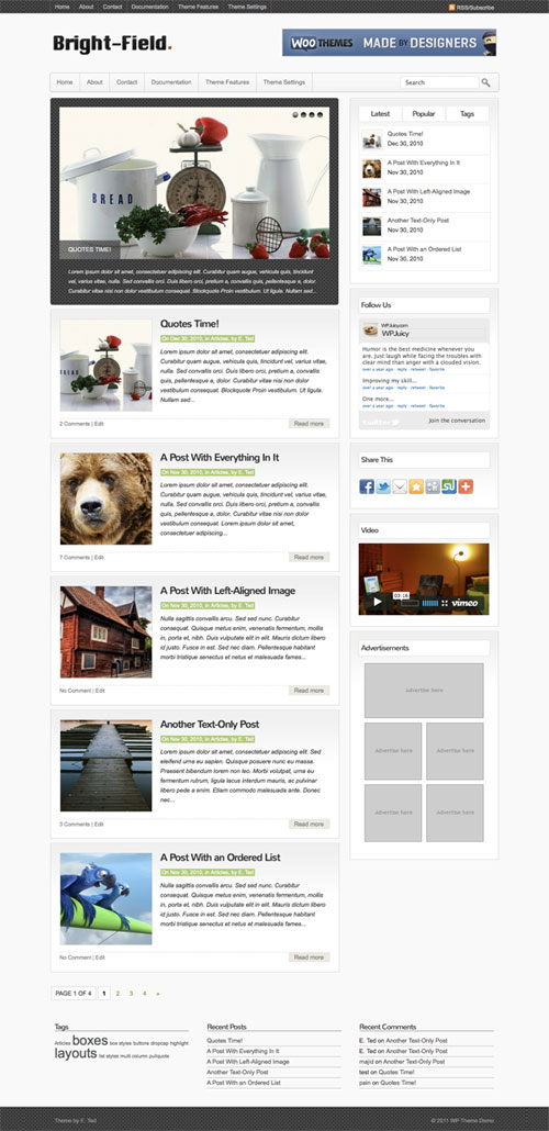 Bright-Field wordpress theme