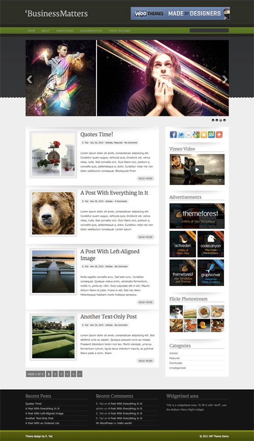 business-matters wordpress theme