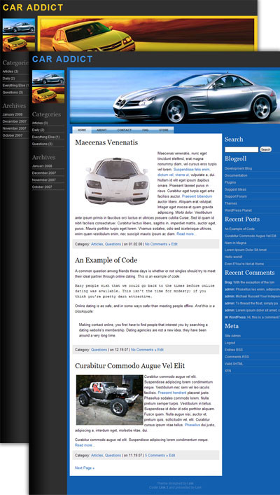 car addict wordpress theme
