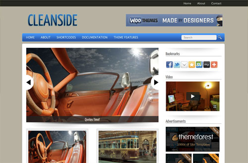 Cleanside Free WordPress theme