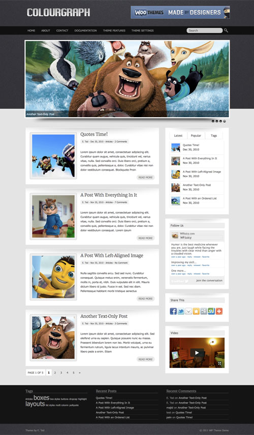 Colourgraph wordpress theme