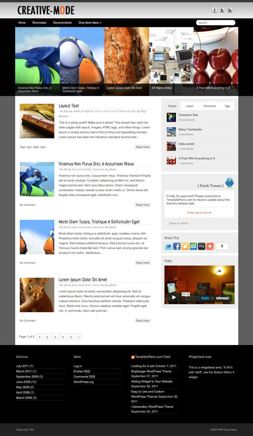 Creative-Mode wordpress theme