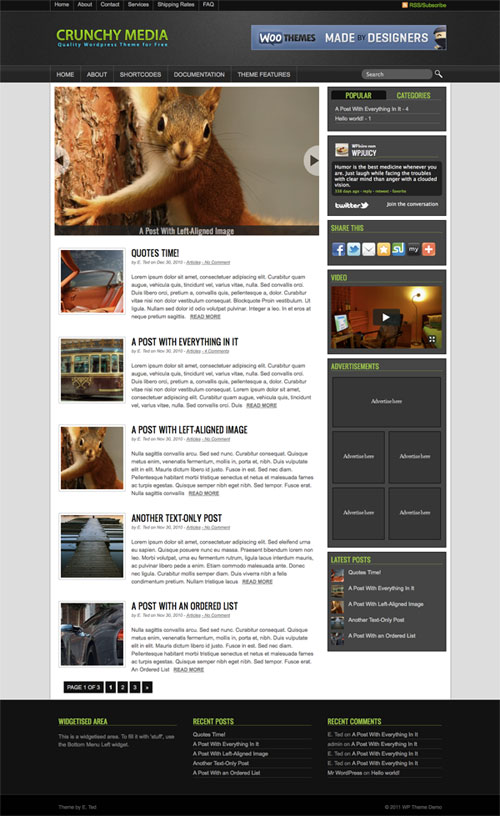 crunchy-media wordpress theme