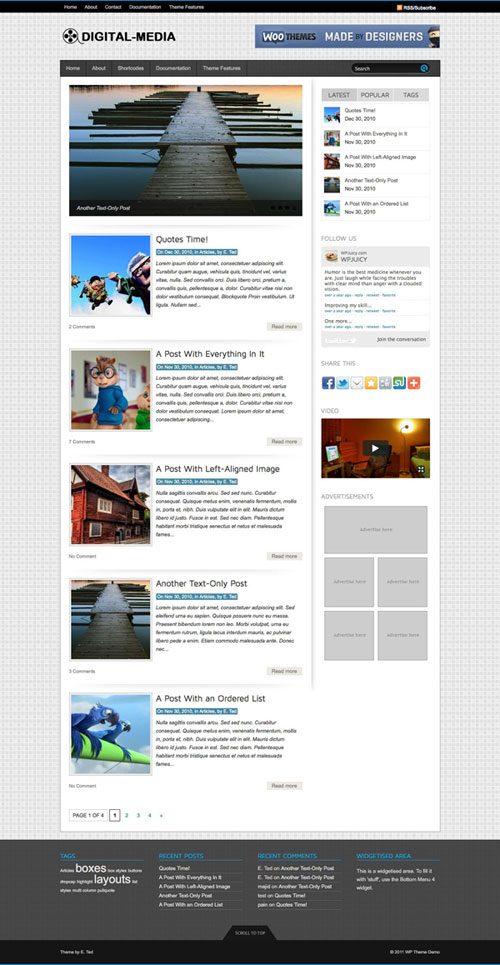 Digital-Media wordpress theme