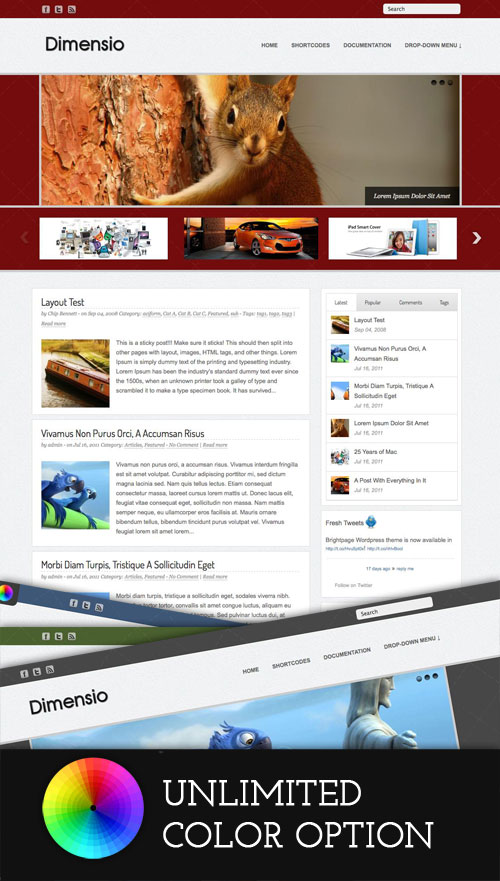 Dimensio wordpress theme