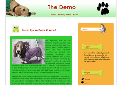 dog's diary wordpress theme