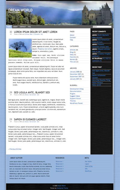 dream world wordpress theme