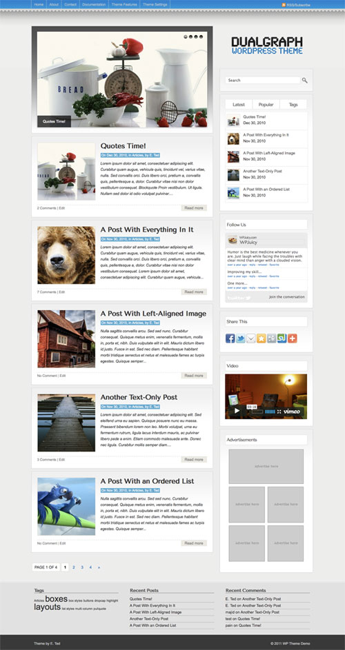 Dualgraph wordpress theme