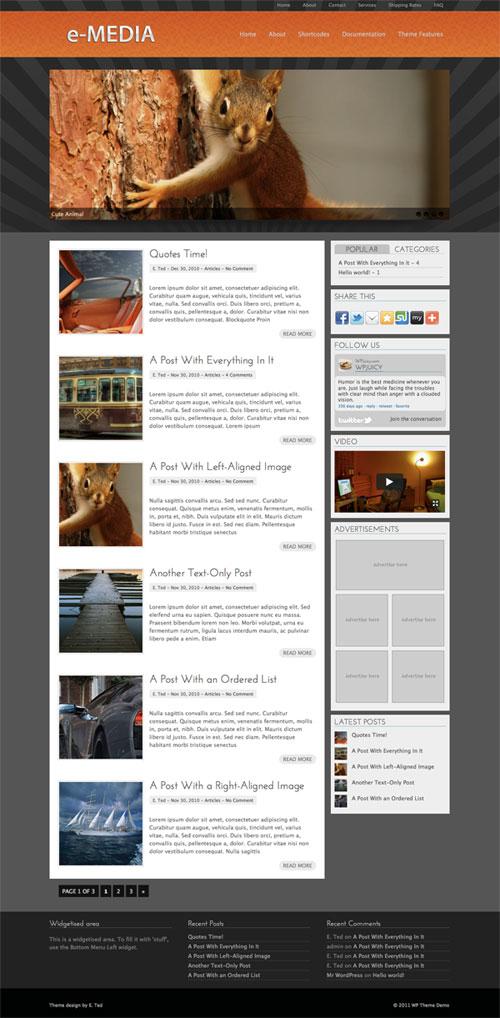 e-Media wordpress theme