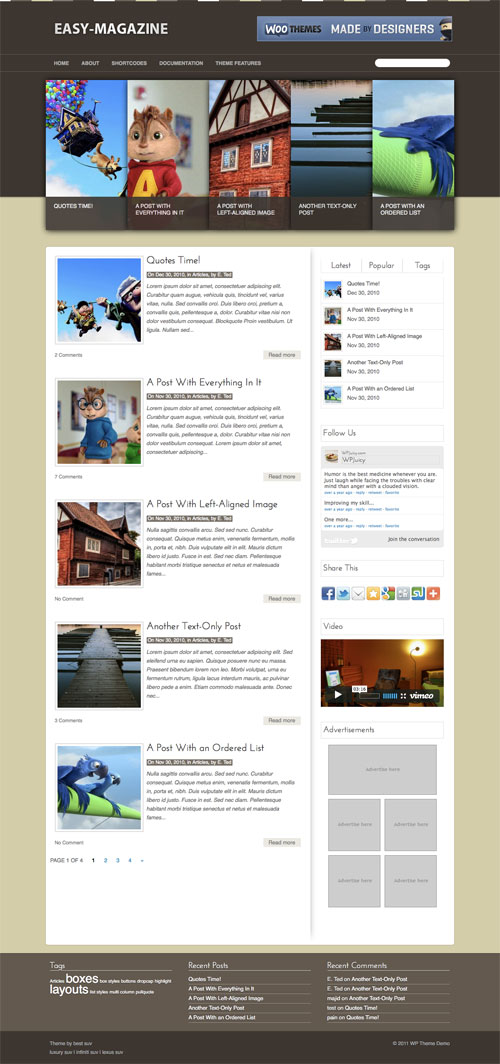 Easy-Magazine wordpress theme