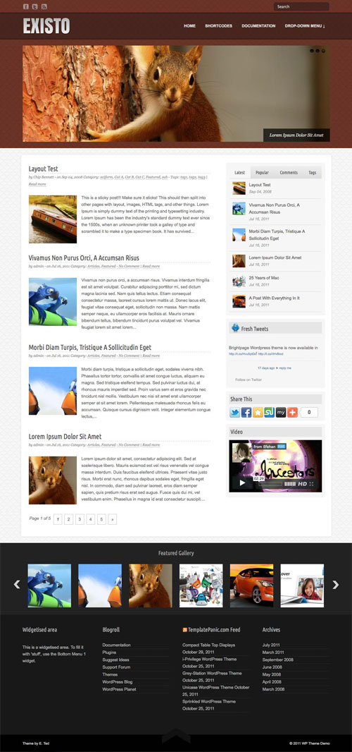 Existo wordpress theme