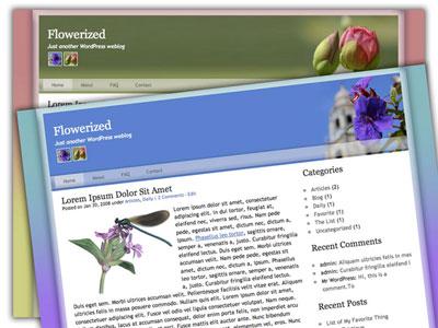 flowerized wordpress theme