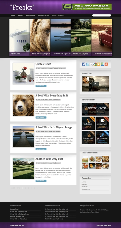 freakz wordpress theme