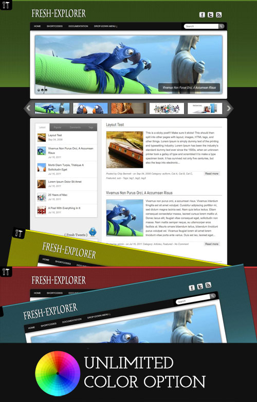 Fresh-Explorer wordpress theme