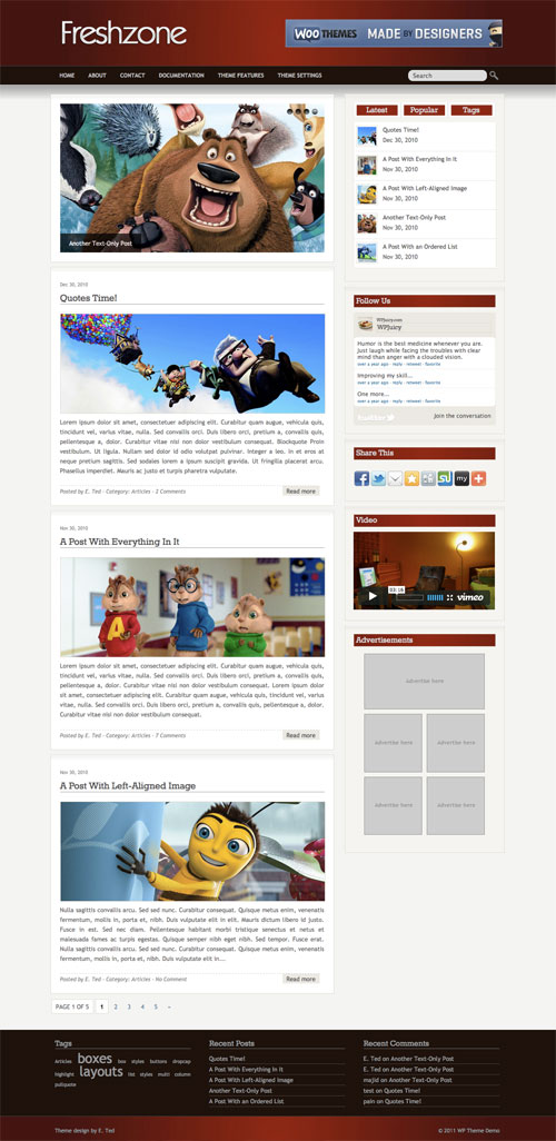 Freshzone wordpress theme