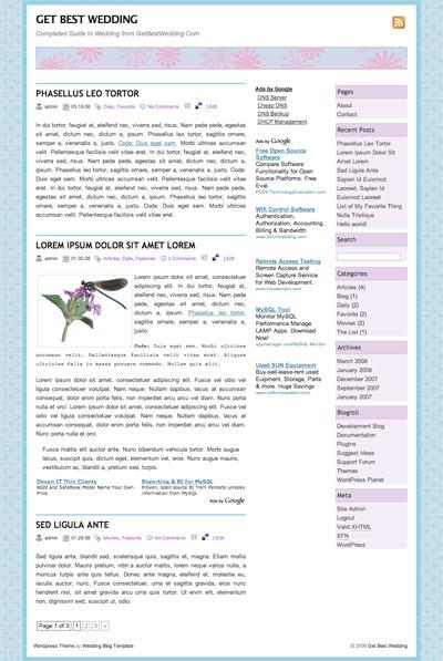 get best wedding wordpress theme