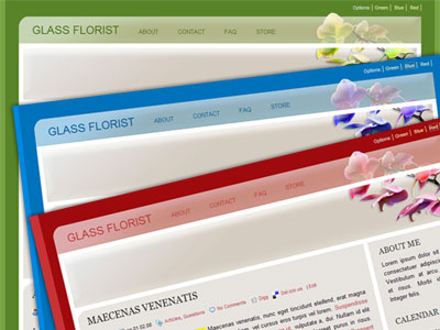 glass florist wordpress theme