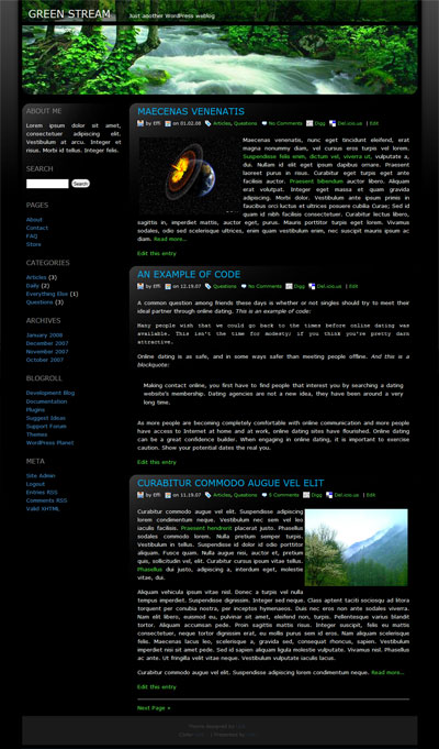 green stream wordpress theme