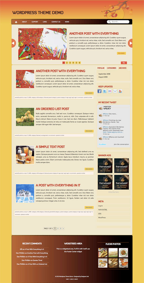 Home wordpress theme