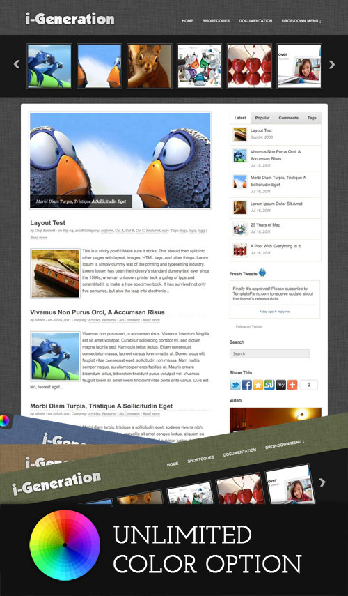 i-Generation wordpress theme