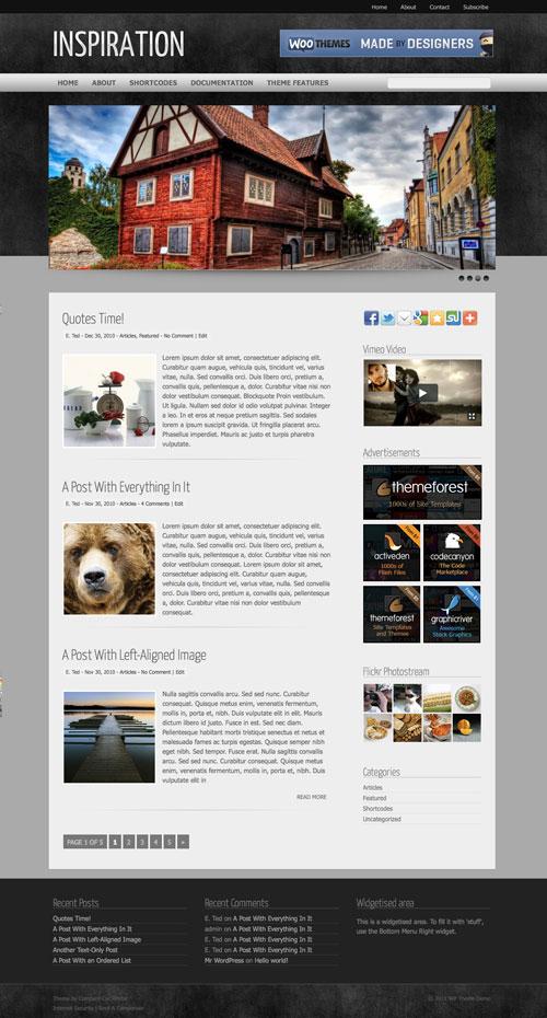 inspiration wordpress theme