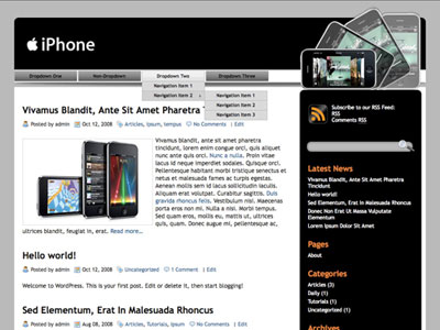 iphone bw wordpress theme