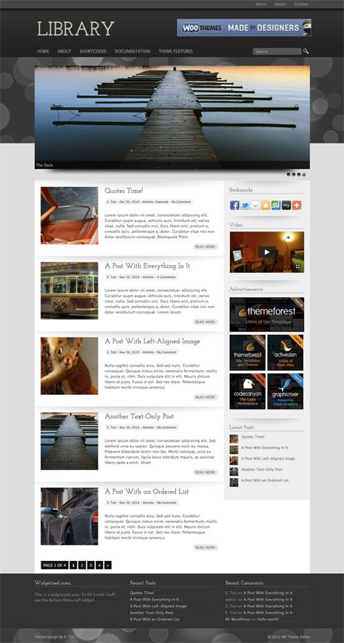 library wordpress theme