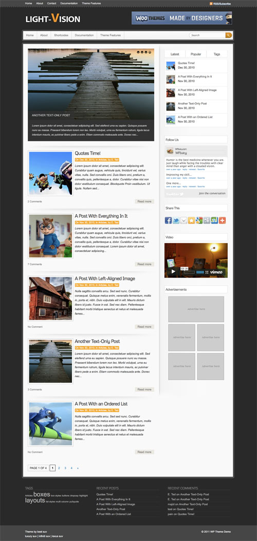 Light-Vision wordpress theme