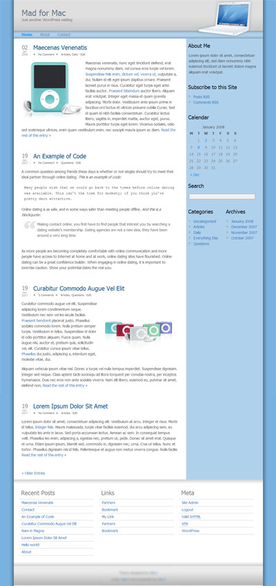 mad for mac wordpress theme