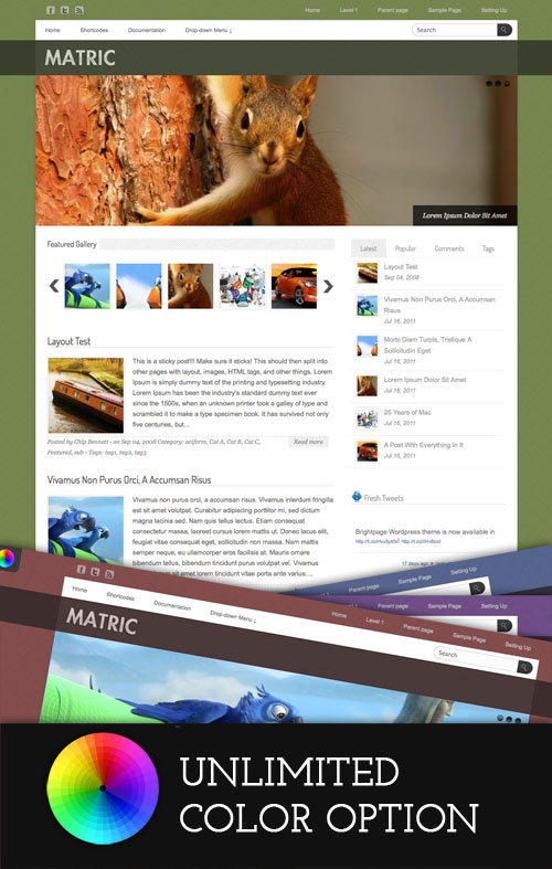 Matric wordpress theme