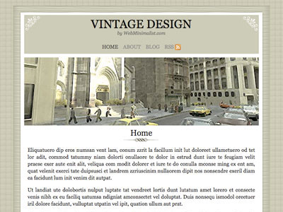 minimalist vintage wordpress theme