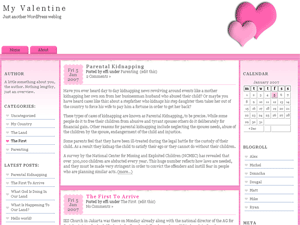 my valentine wordpress theme