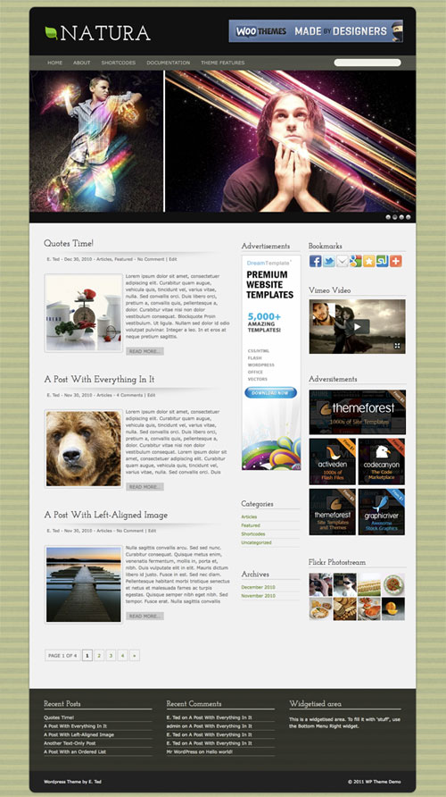 natura wordpress theme
