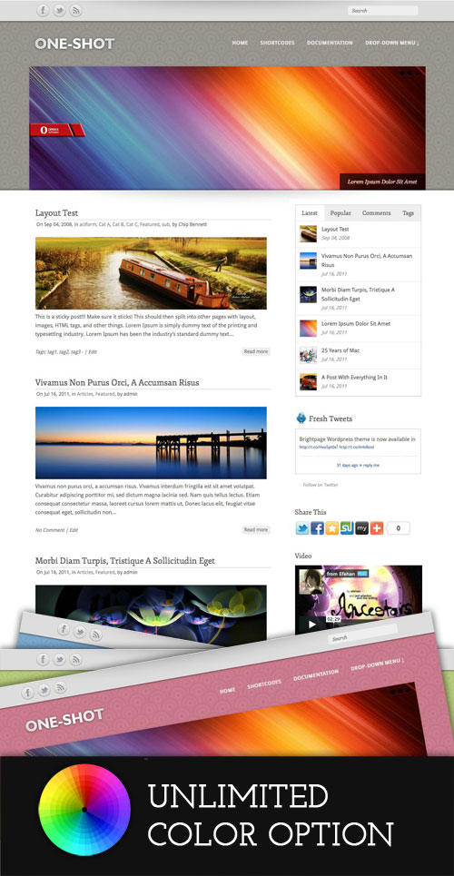One-Shot wordpress theme