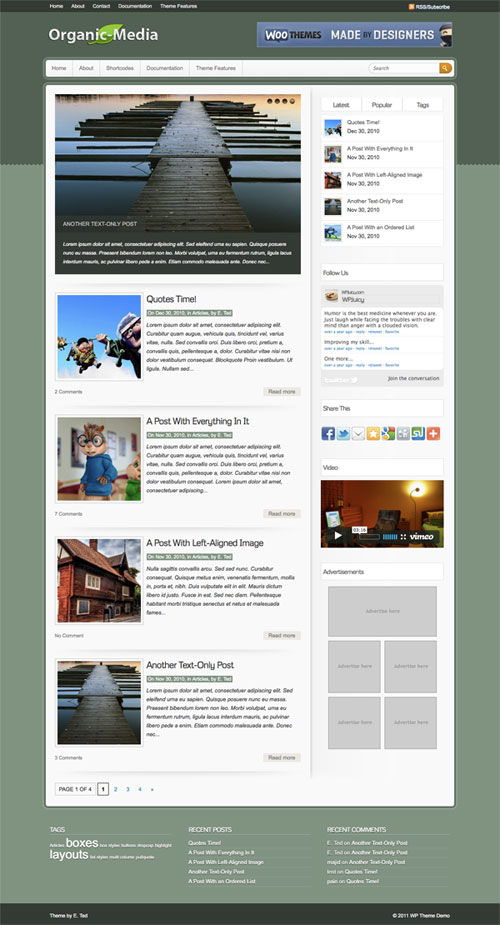 Organic-Media wordpress theme