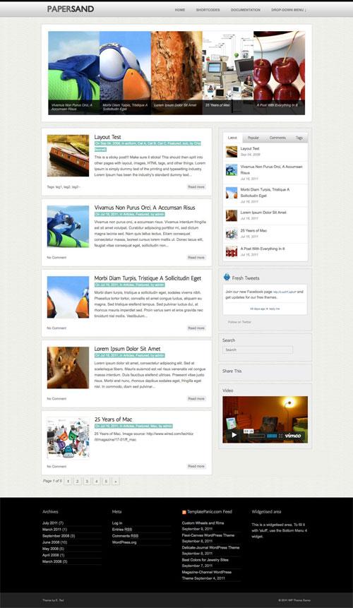 Papersand wordpress theme