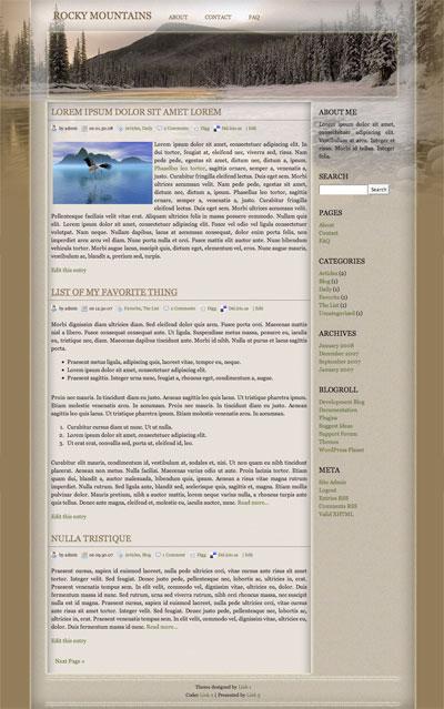 rocky mountains wordpress theme